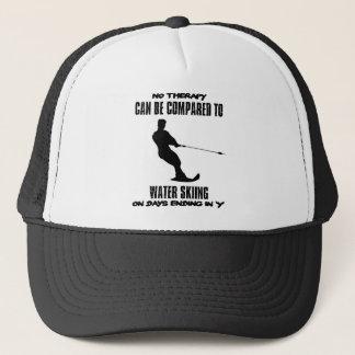 Trending Water skiing designs Trucker Hat