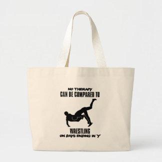 Trending Wrestling designs Large Tote Bag