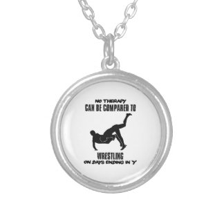 Trending Wrestling designs Silver Plated Necklace