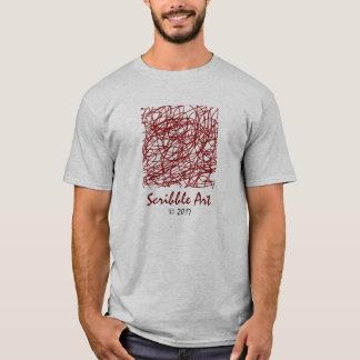 Trendsetting red print scribble art T-Shirt