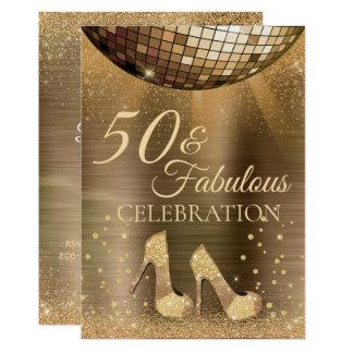 Trendy 50 & Fabulous Chocolate Invitation