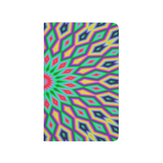 Trendy Abstract-Art Green And Blue Pattern Journals