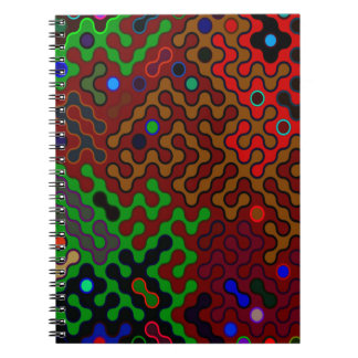 Trendy Abstract Art Psychedelic Spiral Notebook