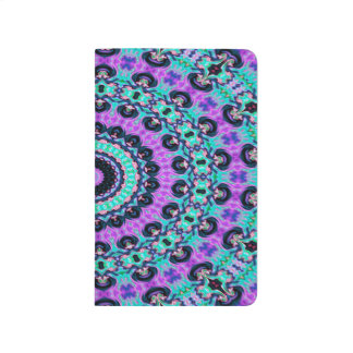 Trendy Abstract Art Purple And Blue Concentric Cir Journal