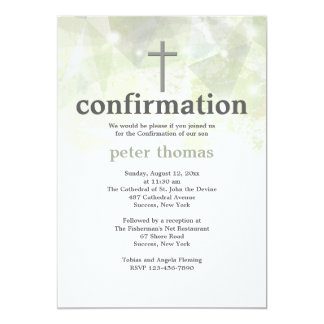 "Trendy Abstract Confirmation Invitation 5"" X 7"" Invitation Card"