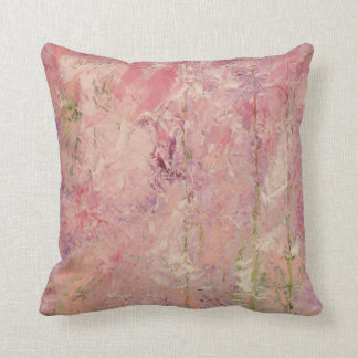 Trendy Abstract Design Pink Throw Pillow
