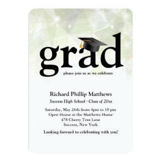 "Trendy Abstract Graduation Invitation 5"" X 7"" Invitation Card"