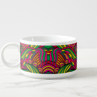 Trendy abstract tribal pattern. Brazil color. Chili Bowl