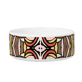 Trendy abstract tribal pattern. cat food bowls
