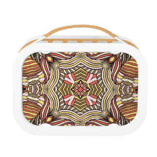 Trendy abstract tribal pattern. lunchbox