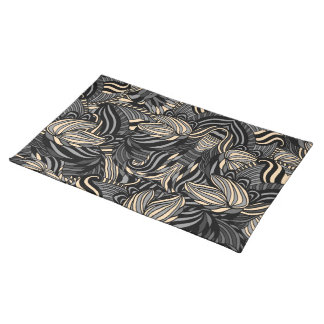Trendy abstract tribal pattern. place mats