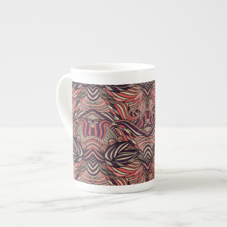Trendy abstract tribal pattern. tea cup
