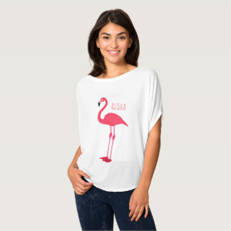 Trendy ALOHA Pink Flamingo Tropical  Fun Trendy T-Shirt