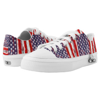 Trendy american flag Low-Top sneakers