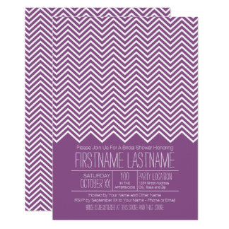 Trendy and Modern Chevron Pattern Bridal Shower Card