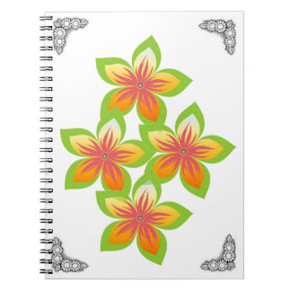 Trendy and vintage flowers  Spiral Photo Notebook