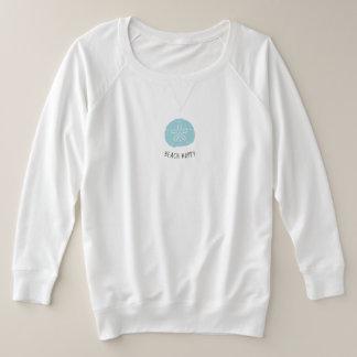 Trendy Aqua Sand Dollar Beach Happy shirt