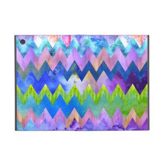 Trendy Artsy Watercolor Painting Chevron Pattern iPad Mini Case