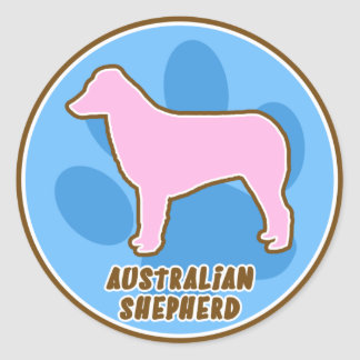 Trendy Australian Shepherd Stickers