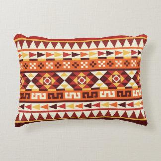 Trendy Autumnal Colors Aztec Pattern Accent Pillow