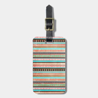 Trendy aztec luggage tag