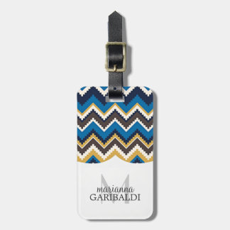 Trendy Aztec Print  Personalized Luggage Tag