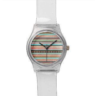 Trendy aztec wristwatch