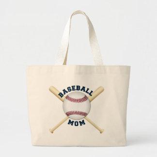Trendy baseball mom large tote bag