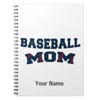 Trendy baseball mom note books