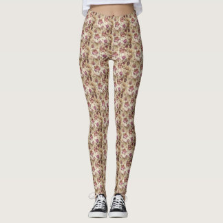 TRENDY BEAUTIFUL FLOWERS LEGGINGS
