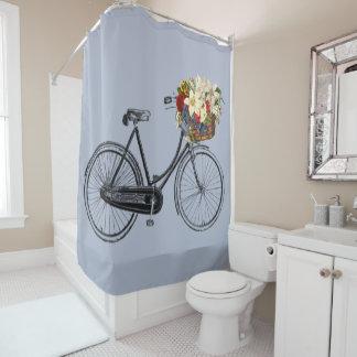 Trendy Bicycle Flower Bike Shower Curtain