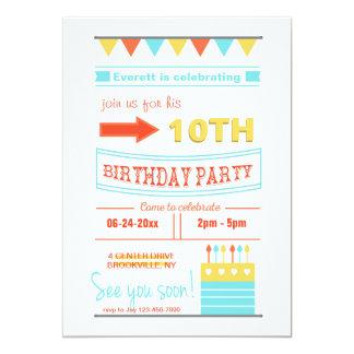 Trendy Birthday Invitation
