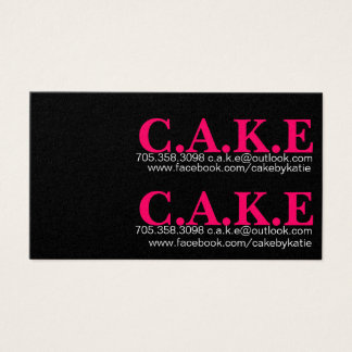 Trendy Black and hot pink cupcake business card