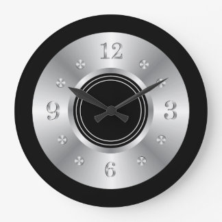 Trendy Black And Silver Wall Clock