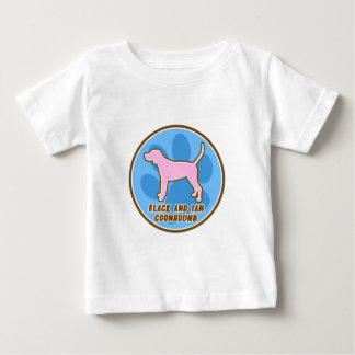 Trendy Black and Tan Coonhound Baby's TShirt