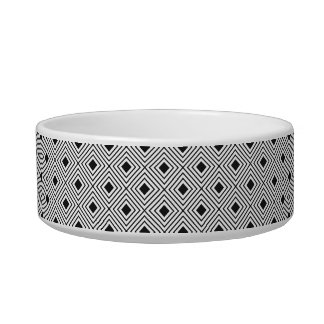 Trendy Black And White Geometric Tribal Pattern Bowl