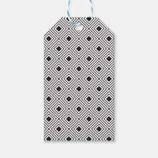 Trendy Black And White Geometric Tribal Pattern Gift Tags