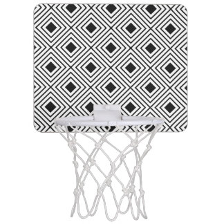 Trendy Black And White Geometric Tribal Pattern Mini Basketball Hoop