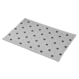 Trendy Black And White Geometric Tribal Pattern Placemat