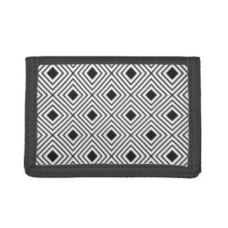 Trendy Black And White Geometric Tribal Pattern Trifold Wallet