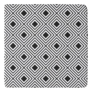 Trendy Black And White Geometric Tribal Pattern Trivet