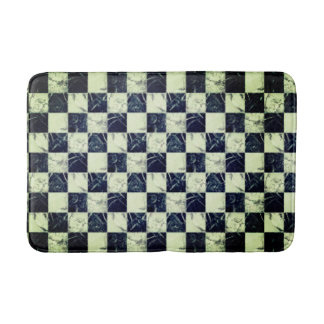 Trendy black and white marble stone texture design bath mat