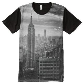 Trendy Black and white New York Shirt