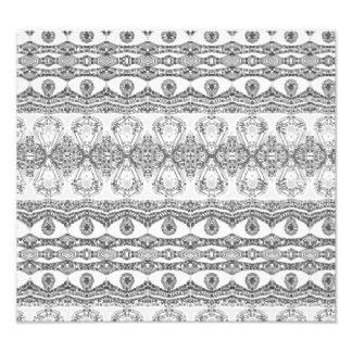 Trendy black and white pattern photo print