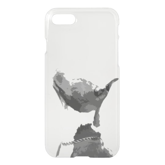 Trendy black and white Pit Bull dog iPhone 7 Case