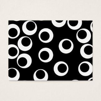Trendy black and white retro design. business card