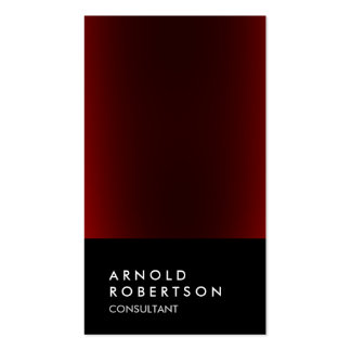 Trendy Black Red Consultant Business Card