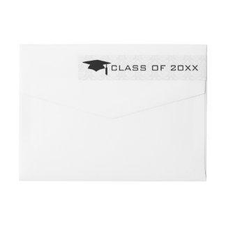 Trendy Black Typography-Graduation Wrap Around Label