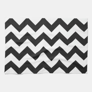 Trendy Black & White Chevron Pattern Kitchen Towel