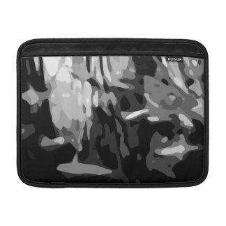 Trendy Black White Gray Abstract Pattern MacBook Sleeves